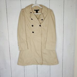 Marc Jacobs Striped Camel Longline Trench Coat